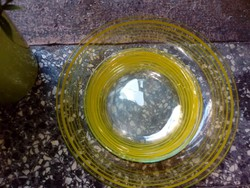 Retro üveg süteményes készlet