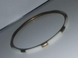 Gyöngyház intarziás  rézkarkötő 0,3 cm.