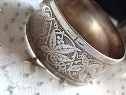 Antik ezüstözött szalvétagyűrű