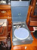 Antik, teljesen eredeti, működő Homocord gramofon 1930-ból szép állapotban