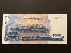 Kambodzsa 1000 Riels bankjegy UNC 2007