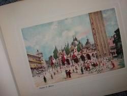 Az Antik 19 . sz végi Velence képekben szinezett  rézkarc miniatűrák albumban