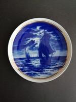 Wallendorf Echt Kobalt német porcelán fali tányér - EP