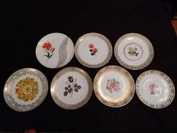 Vegyes porcelán desszertes tányér csomag, különlegesen szép, virágos-aranymintás kivitelben!