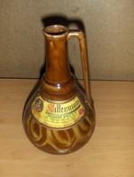 Retro kerámia italtartó bor kínáló palack Lengyel (g)