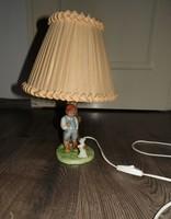 Régi kerámia lámpa figurális asztali lámpa