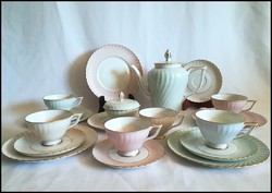 Royal Tettau, minőségi német porcelán teás készlet