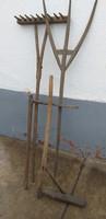 Favilla,fa gereblye, lekvárkavarók, teknő