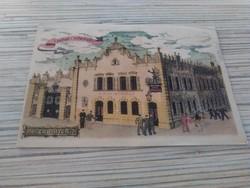 Régi képeslap Budapest Hági-söröző.
