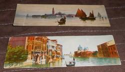 Velence Venezia képeslap levelezőlap olasz keskeny 1900 körül antik