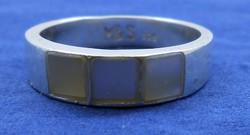 Ezüst gyűrű gyöngyház lapkákkal 925 Marks & Spencer