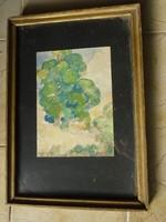 Radics E. szignóval - akvarell