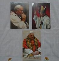 Vallási kép: Pápák - II. János Pál, XVI. Benedek