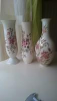 Zsolnay vázák 26.5, 25.5, 26 cm. 3 db egyben eladó