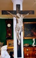 18. századi, későbarokk Krisztus a kereszten - eredtei korpusz, pótolt feszület