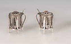 Ezüst antik bécsi fűszertartó párban