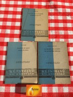 3 darab Kétnyelvű kis könyvtár - Murger Bohémkávéház - Jules Az autóbuszok - Voltaire Jancsi és Miki