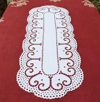 Antik riselt futó terítő asztali dísz 100 x39 cm