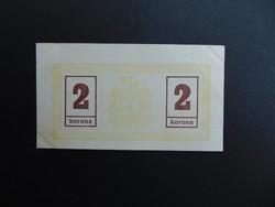 2 korona 1919 Miskolc Hajtatlan bankjegy
