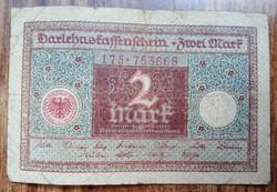 Gyengébb Inflációs 2 márka 1920.bankjegy