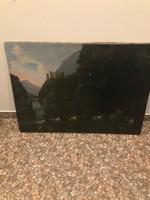10ft-ról! Nagyméretű antik festmény!