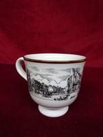 Angol porcelán teáscsésze, Howden városát ábrázolja 2000-ből.