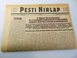 Német birodalomból  kiutasították amerikai hivatalnokokat -  Pesti Hírlap 1941 jun, 20.