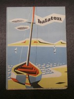 Retro Balaton térkép 1965