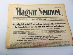 Algiri rádió felszólítást intézett az olasz néphez -  Magyar Nemzet  1943 jún, 20.