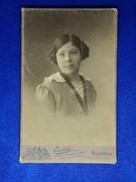 Erdélyi Mór fotográfia fotó régi kép Fiatal hölgy fotó