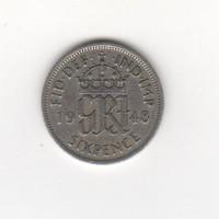Egyesült Királyság, 6 pence 1948 VF