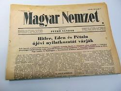Hitler , Eden, és Pétain újévi nyilatkozatát várják  -  Magyar Nemzet  1942. jan. 1..