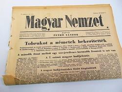 Tobrukot a németek bekerítették -  Magyar Nemzet  1942. jún. 21.