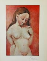 Picasso eredeti aláírásával! 72 éves