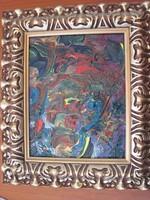 Csodálatos színkavalkád festmény