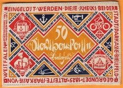 Kuriózum!!!! Nagyon ritka Weimari slyem pénz 50 Márka