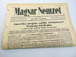 Amerika megint szállít élelmiszert Francia- Afrikába  -  Magyar Nemzet  1942. jún. 14.