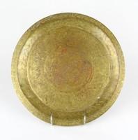 0Z162 Antik keleti motívumos réz tálca 30 cm