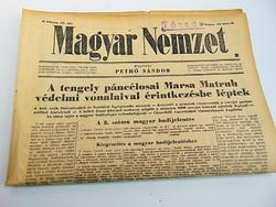 Tengely páncélosai Marsa védelmi vonalaival érintkezésbe léptek-  Magyar Nemzet  1942. jún. 28.