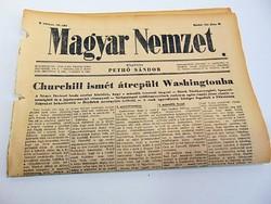 Churchill ismét átrepült Washingtonba -  Magyar Nemzet  1942. jún. 20.