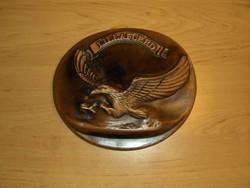 Domború turul madár kerámia fali dísz Lillafüred emlék 14,5*16,5 cm (5/d)