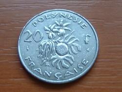 FRANCIA POLINÉZIA POLYNESIE 20 FRANK FRANCS 1998 I.E.O.M. #