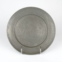 0Z156 Antik jelzett óntányér 22.5 cm 1801