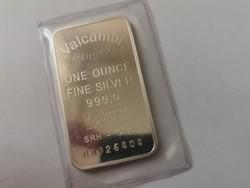 Valcambi(svájc) ezüst lap-31,1 gramm 0,999