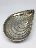 OLRI régi olasz ezüstözött kagyló tálka