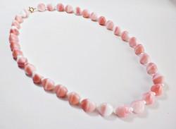 Rózsaszín muránói üveg nyaklánc
