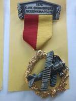 Német légvédelmi kitüntetés szalaggal 1976 G.Int.Brumowsky gedenkmarsch