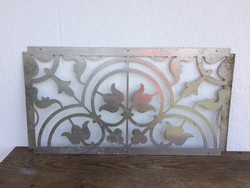 Fém ablak szellőző rács fali dekoráció