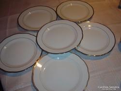 Aranycsíkos  kínai lapos  tányér 6 darab