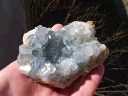 Celesztit, cölesztin ásvány, kristály